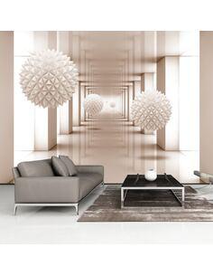 Papier peint adhésif Couloir vers le futur   Artgeist   Blanc, gris, violet