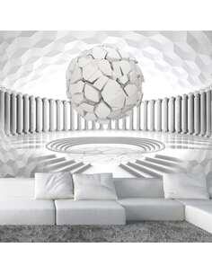 Papier peint adhésif Géométrie cachée   Artgeist   Gris, blanc