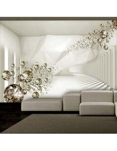 Papier peint adhésif Couloir diamant | Artgeist | Doré, blanc, beige