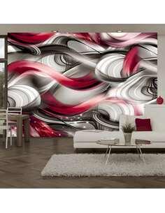 Papier peint adhésif Ruée d'émotions   Artgeist   Rouge, gris, blanc