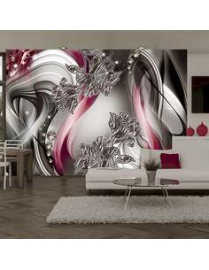 Papier peint adhésif Ballet stellaire | Artgeist | Gris, rouge, argent, blanc