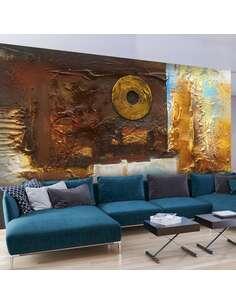 Papier peint adhésif Émotions peintes   Artgeist   Brun, doré, azuré, blanc