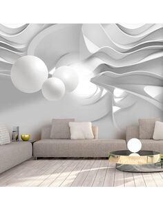 Papier peint adhésif Couloirs blancs | Artgeist | Gris, blanc