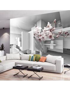 Papier peint adhésif Orchidée 2.0 | Artgeist | Blanc, rose