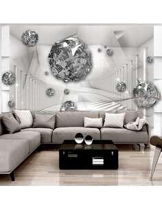 Papier peint adhésif Chambre de diamant | Artgeist | Gris, argent, blanc