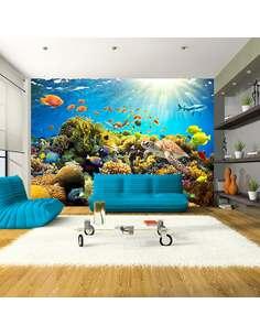 Papier peint adhésif Terre sous-marine | Artgeist | Turquoise