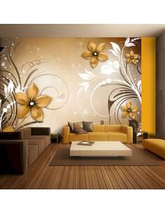 Papier peint adhésif Rhapsodie brune   Artgeist   Brun, blanc, jaune