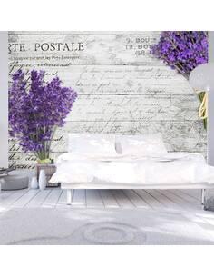 Papier peint adhésif Carte postale lavande | Artgeist | Gris, violet