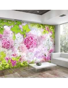 Papier peint adhésif Pivoines | Artgeist | Rose, vert