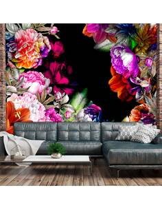 Papier peint adhésif Tons chauds de l'été   Artgeist   Noir et violet