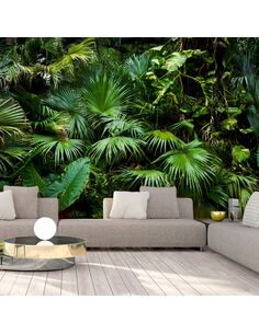 Papier peint adhésif Jungle ensoleillée | Artgeist | Vert, noir