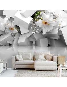 Papier peint adhésif Perdu dans le chaos   Artgeist   Gris, blanc
