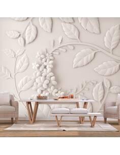 Papier peint adhésif Fleurs en papier | Artgeist | Crème