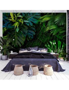 Papier peint adhésif Sombre jungle | Artgeist | Noir, vert