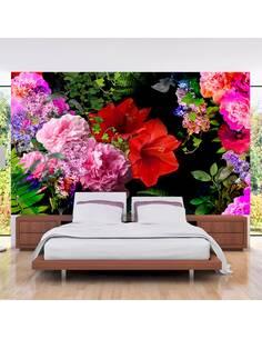 Papier peint adhésif Soirée d'été | Artgeist | Rose et rouge
