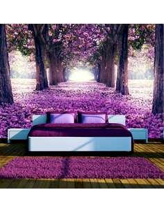 Papier peint adhésif Route des fleurs | Artgeist | Violet, brun, blanc