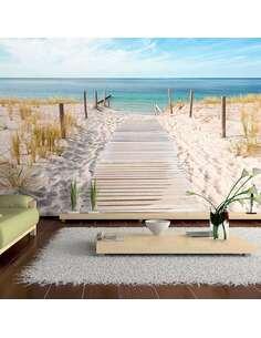 Papier peint adhésif Vacances au bord de la mer | Artgeist | Beige et bleu