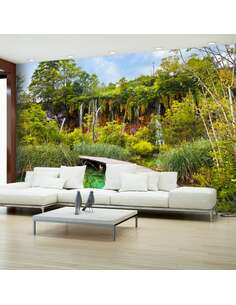 Papier peint adhésif Oasis de verdure | Artgeist | Vert, brun