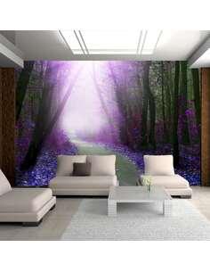 Papier peint adhésif Chemin violet | Artgeist | Gris, violet, noir, vert, bleu marine