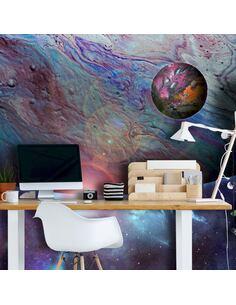 Papier peint adhésif En orbite   Artgeist   Gris et violet