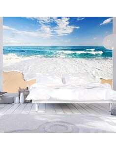 Papier peint adhésif Au bord de la mer | Artgeist | Azuré, blanc, beige