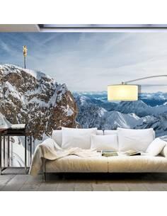 Papier peint adhésif L'hiver à zugspitze | Artgeist | Blanc, bleu, brun