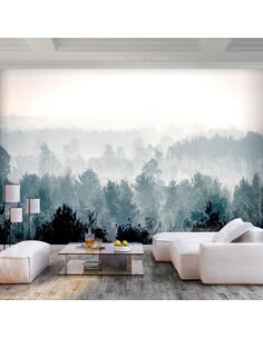 Papier peint adhésif Forêt d'hiver | Artgeist | Gris, beige, vert