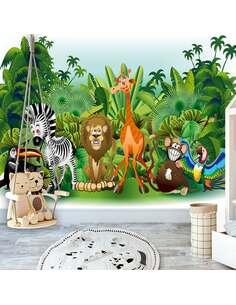 Papier peint adhésif Animaux de la jungle | Artgeist | Vert