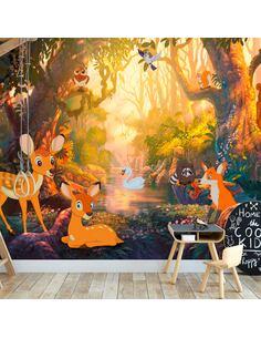 Papier peint adhésif Animaux de la forêt | Artgeist | Orange, vert, brun, rose