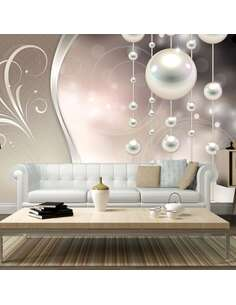 Papier peint adhésif Rêve de perles | Artgeist | Beige, crème, argent, bleu