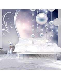 Papier peint adhésif Délice de perles   Artgeist   Argent, bleu, beige, gris, bleu marine