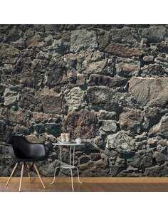 Papier peint adhésif Rideau de pierre ii   Artgeist   Brun, gris