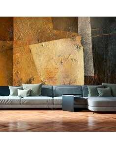 Papier peint adhésif Art moderne ii | Artgeist | Doré, noir, vert, jaune