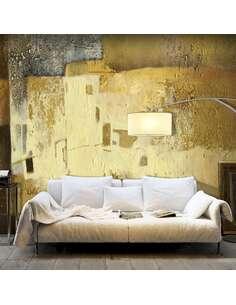 Papier peint adhésif Bizarrerie d'or   Artgeist   Jaune, brun