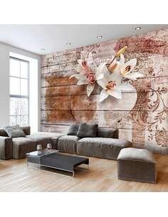 Papier peint adhésif Souvenirs romantiques | Artgeist | Brun, blanc, rose