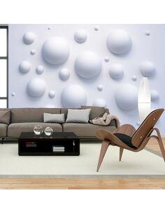 Papier peint adhésif Mur de bulles | Artgeist | Blanc