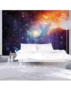 Papier peint adhésif Galaxie | Artgeist | Violet, bleu, orange