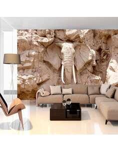 Papier peint adhésif Sculpture d'éléphant | Artgeist | Beige