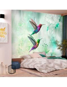 Papier peint adhésif Colibris colorés | Artgeist | Vert
