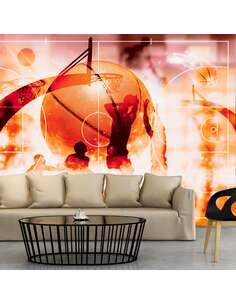 Papier peint adhésif Mon sport : le basket | Artgeist | Rose, noir