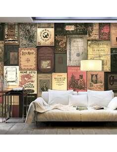 Papier peint adhésif Les livres du paradis | Artgeist | Marron et beige