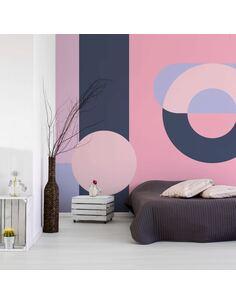 Papier peint adhésif Couronne géométrique | Artgeist | Violet, rose, noir