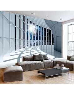 Papier peint adhésif Terrasse cosmique   Artgeist   Bleu, gris, blanc