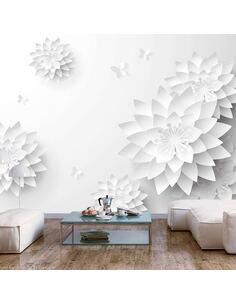 Papier peint adhésif Fleurs orientales   Artgeist   Noir et blanc